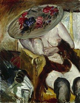 Lovis Corinth: Italienerin in gelbem Stuhl. 1912 (1913 signiert)