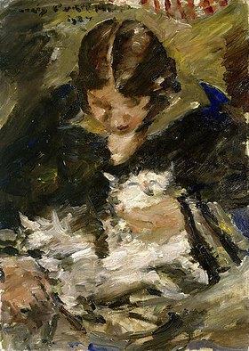 Lovis Corinth: Wilhelmine mit Katze
