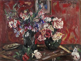 Lovis Corinth: Bunte Wicken und Rosen