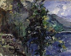 Lovis Corinth: Walchensee mit Abhang des Jochberges