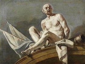 Francesco (L'Abate Ciccio) Solimena: Supraporte mit einem gefesselten Sklaven