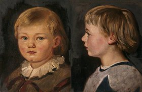 Adolf Friedrich: Zwei Kinderbildnisse, Harald Friedrich. 1860 und