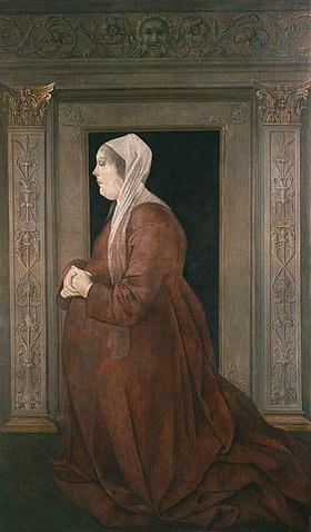 Baldassare Estense: Bildnis der Eleonora von Aragon (1450-1493), seit 1473 Gemahlin des Ercole I. d'Este. (siehe auch Bildnummer 34225)