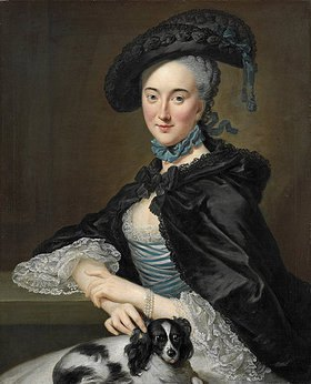 Johann Georg Ziesenis: Sophie Sabine Christine von Steinberg, geb. Gräfin von Platen Hallermund