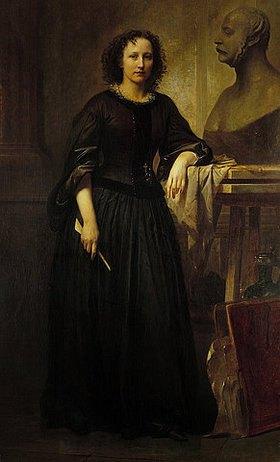Friedrich Kaulbach: Portrait der Bildhauerin Elisabeth Ney