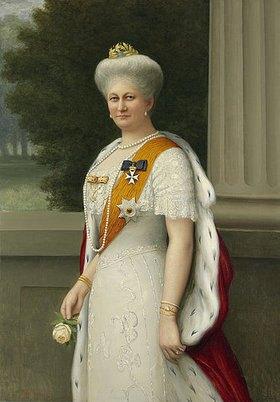 Adolf Emil Hering: Bildnis der Kaiserin Auguste Viktoria. (siehe auch Bildnummer 35281)