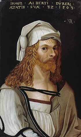 Albrecht Dürer: Bildnis Albrecht Dürers (im Ausschnitt nach Dürers Selbstportrait)