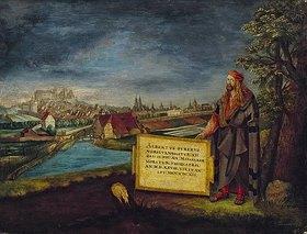 Hans Sebald Lautensack: Blick auf Nürnberg mit Altbrecht Dürer im Vordergrund
