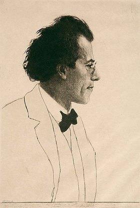 Emil Orlik: Gustav Mahler