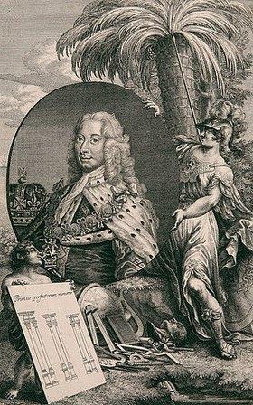 Georg Daniel Heumann: König Georg II von Großbritannien und Irland (Allegorie auf die Gründung der Universität Göttingen?)