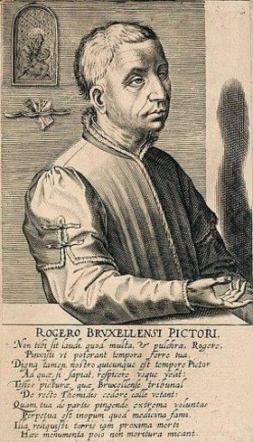 Hendrik Hondius: Rogier van der Weyden. Aus: Pictorum aliquot celebrium praecipuae germaniae inferioris effigies, hg. von H. Hondius, Den Haag