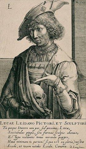 Hendrik Hondius: Lucas van Leyden. Aus: Pictorum aliquot celebrium praecipuae germaniae inferioris effigies, hg. von H. Hondius, Den Haag
