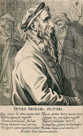 Hendrik Hondius: Pieter Brueghel d.Ä. Aus: Pictorum aliquot celebrium praecipuae germaniae inferioris effigies, hg. von H. Hondius, Den Haag