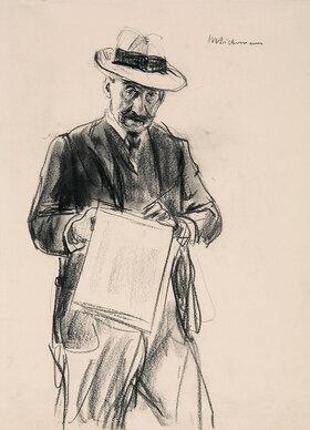 Max Liebermann: Selbstbildnis mit Strohhut. Vor