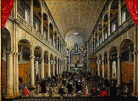 Sebastian Vrancx: Innenansicht der Jesuitenkirche zu Antwerpen