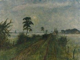Otto Modersohn: Abendstimmung im Moor