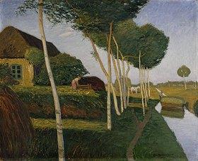 Otto Modersohn: Heuernte im Moor