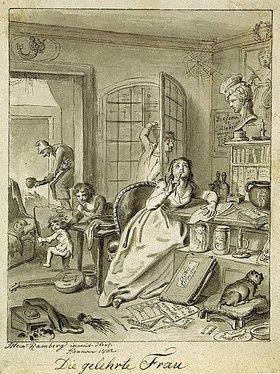 Johann Heinrich Ramberg: Die gelehrte Frau
