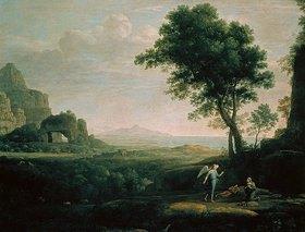 Claude Lorrain (Gellée): Hagar und Ismael in der Wüste