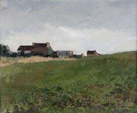 Odilon Redon: Bretonische Landschaft mit Gehöft