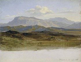 Heinrich Reinhold: Landschaftsstudie aus den Sabinerbergen