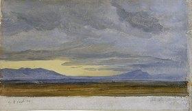 Heinrich Reinhold: Südliche Landschaft (Wolkenstudie)