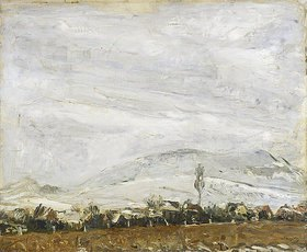 Max Slevogt: Pfälzer Landschaft bei Neuschnee