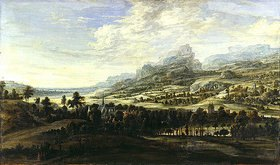 Lucas van Uden: Landschaft mit Kirche