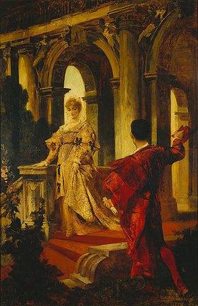 Hans Makart: Romeo und Julia an der Treppe