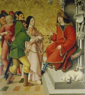 Rueland Frueauf d.Ä.: Passionsaltar. Um 1470/1480. Christus vor Pilatus