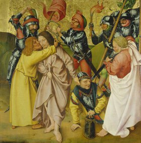 Rueland Frueauf d.Ä.: Passionsaltar. Um 1470/1480. Der Verrat des Judas