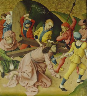 Rueland Frueauf d.Ä.: Passionsaltar. Um 1470/1480. Kreuztragung Christi