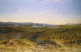 Wilhelm von Kobell: Die Schlacht bei Bar-sur-Aube. Entstanden