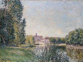 Alfred Sisley: Der Fluss Loing und die Kirche von Moret