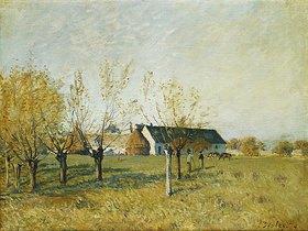 Alfred Sisley: Bauernhof bei Trou d'Enfer an einem Herbstmorgen