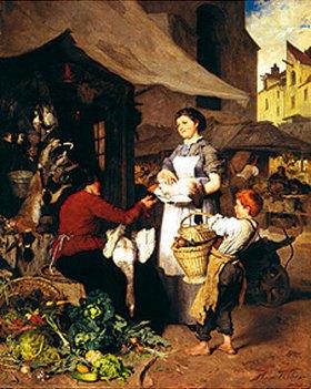 Heinrich Weber: Szene auf dem Münchner Viktualienmarkt