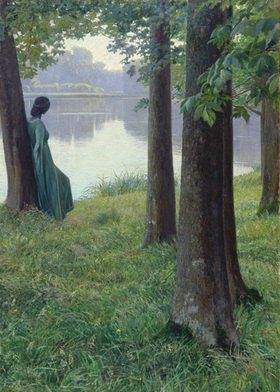 Hugo Duphorn: Morgen am Teich in Rastede