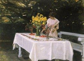 Michael Peter Ancher: Bei Decken der Tafel