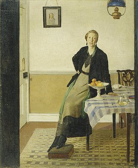 Harold Harvey: Ein Interieur (wohl das Harvey Haus, Maen Cottage, Newlyn)