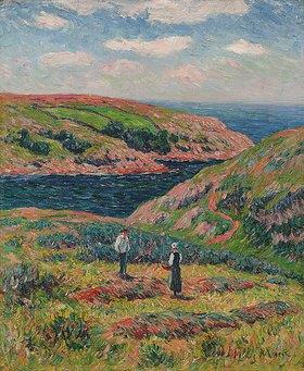Henri Moret: Die Steilküste von Clohars, Finistère
