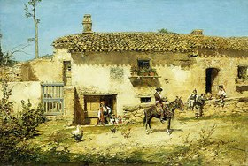 José Benlliure y Gil: Ein spanischer Hof
