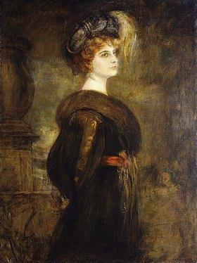 Franz von Lenbach: Dreiviertelportrait einer Dame