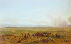 Wilhelm von Kobell: Die Schlacht bei Wagram 1808. Entstanden