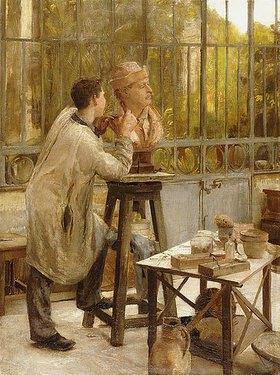 Édouard Joseph Dantan: Ein Bildhauer in seinem Atelier