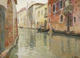Frits Thaulow: Ein venezianischer Kanal