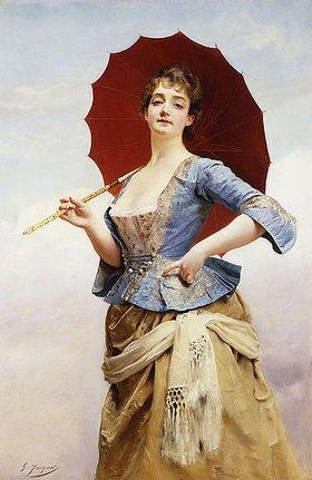Gustave Jean Jacquet: Dame mit Sonnenschirm