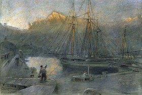 Albert Goodwin: Der Hafen von Sollér auf Mallor