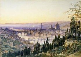 Arthur Severn: Florenz von San Miniato aus