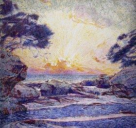 Franz Gailliard: Sonnenuntergang