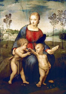 Raffael (Raffaello Sanzio): Die Madonna mit dem Kinde, dem Johannes- knaben und dem Distelfink